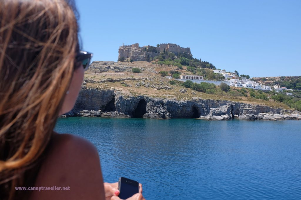 Approaching the Acropolis, Lindos, Rhodes