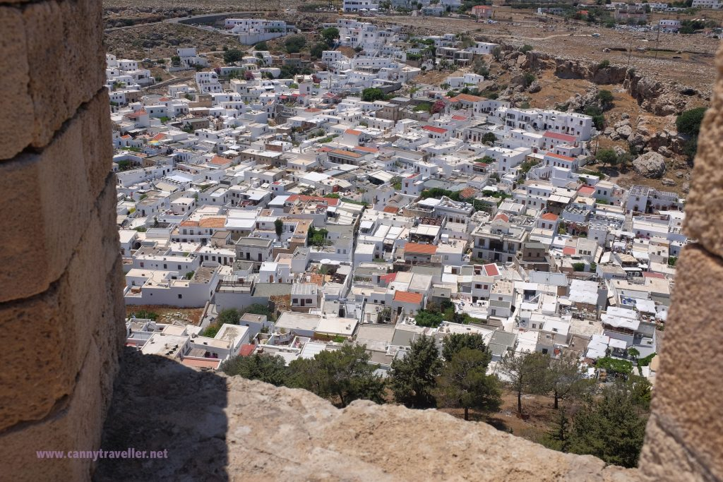 Looking down on Lindos town from the Acropolis