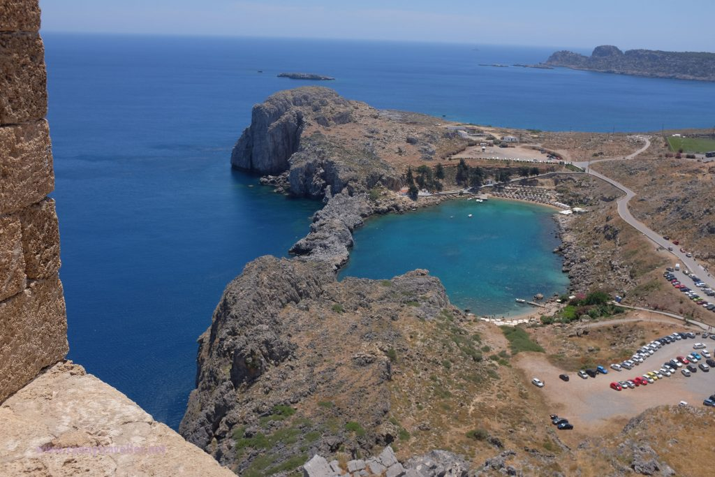 St. Pauls Bay, Lindos, Rhodes from the Acropolis