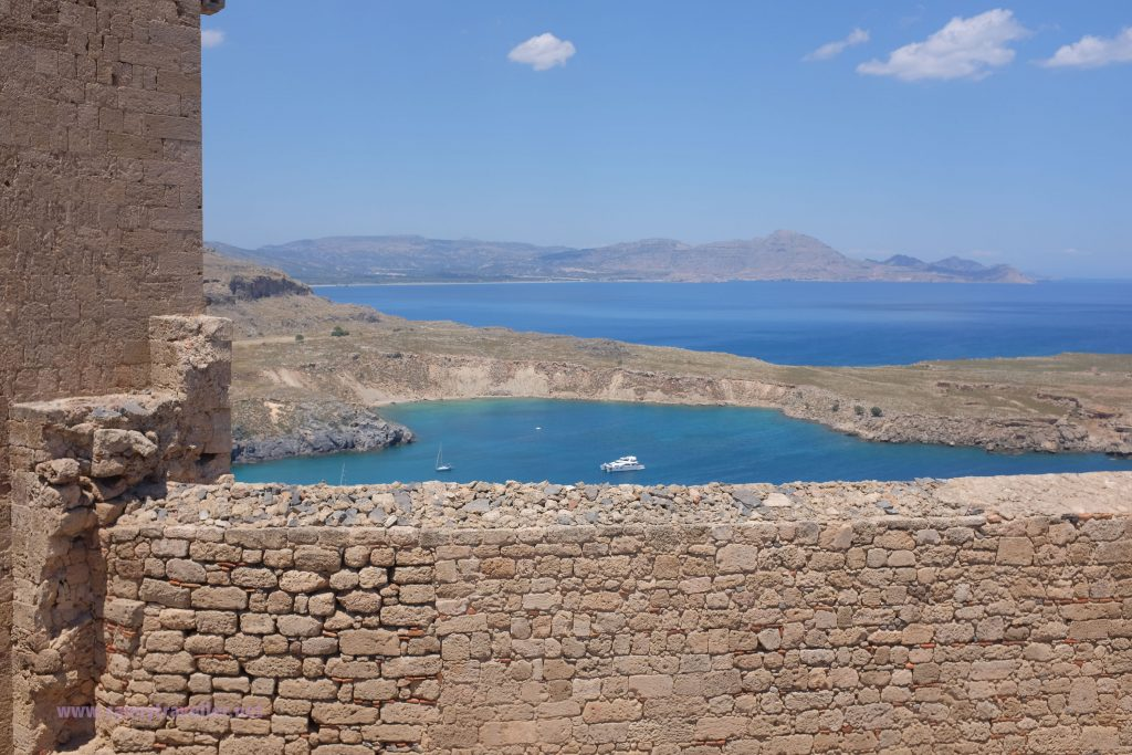 Lindos Bay from the Acropolis, Rhodes