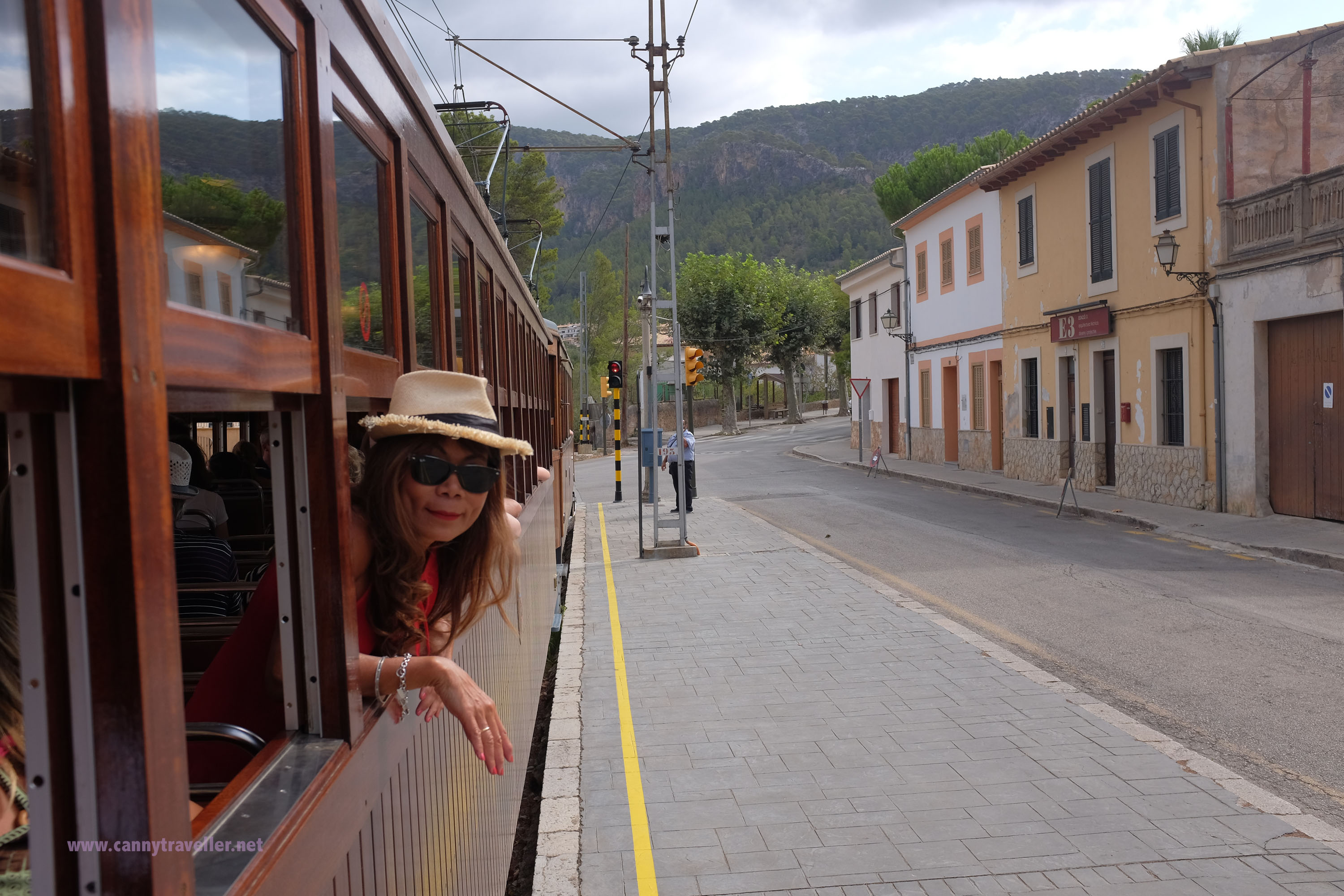 On the Orange Express from Palma to Soller, Majorca