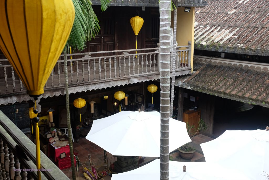 Upstairs in an art shop in Hoi An, Vietnam