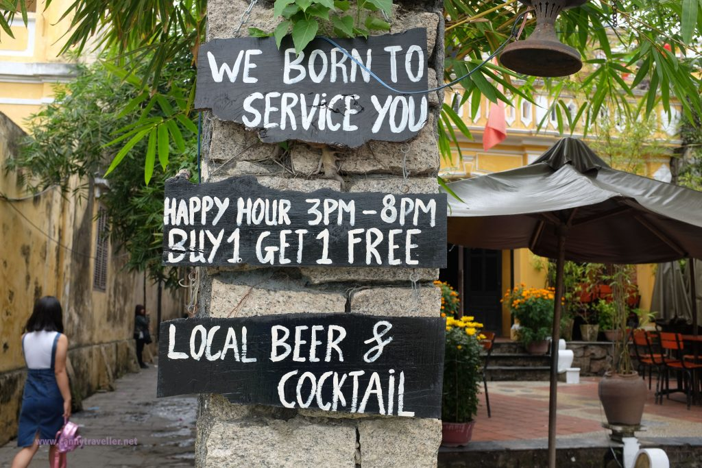 Restaurant sign, Hoi An, Vietnam