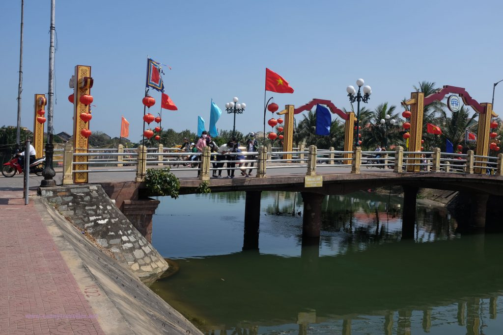 The central bridge in Hoi An, Vietnam