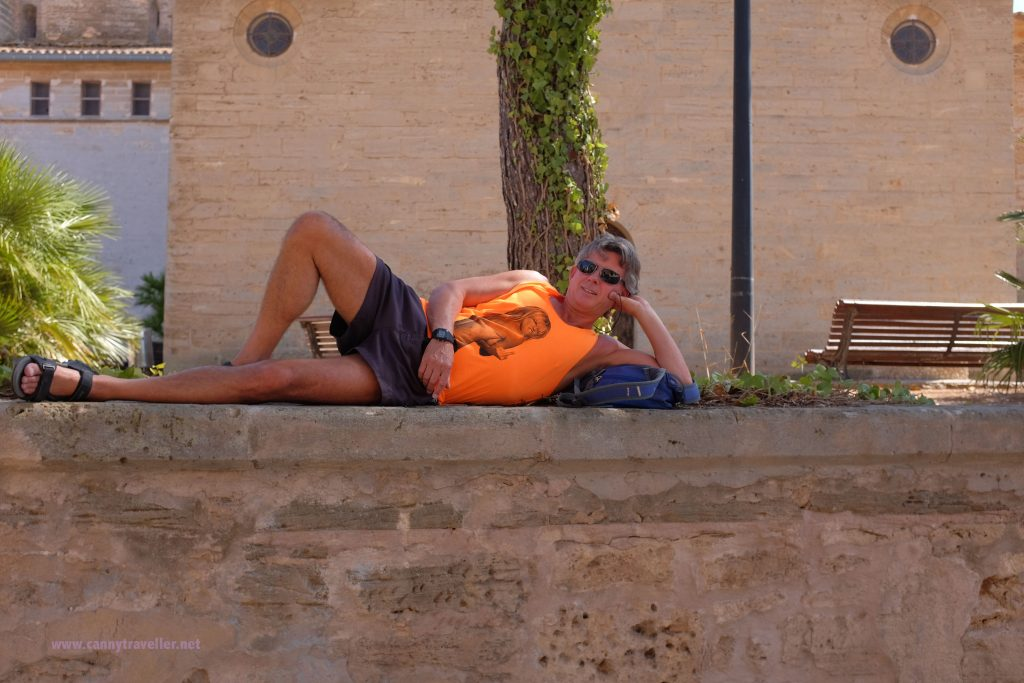 Walking around (or lying around) in Alcudia Town, Majorca