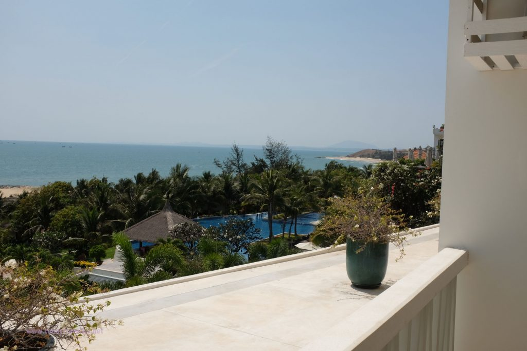 View from our room at The Cliff Resort, Phan Thiet, Vietnam