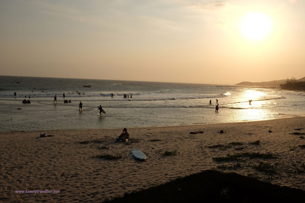 Sunset at the beach at Phan Thiet, Vietnam
