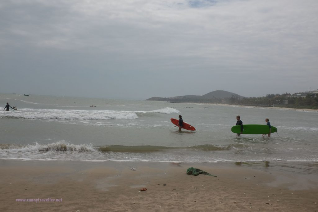 Surfers on the beach at Phan Thiet, Vietnam
