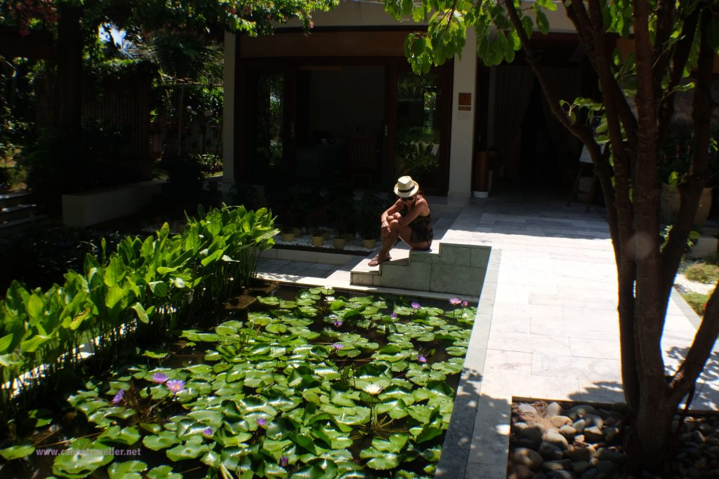 Outside the spa at the Cliff Resort, Phan Thiet, Vietnam