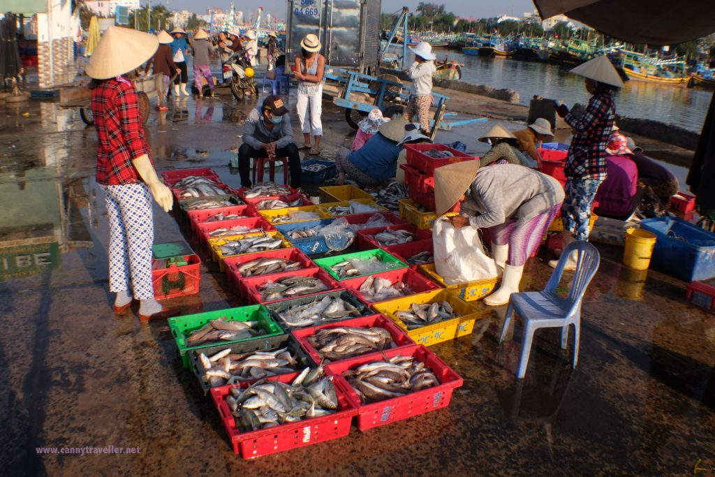 The fish market at Phan Thiet, Vietnam