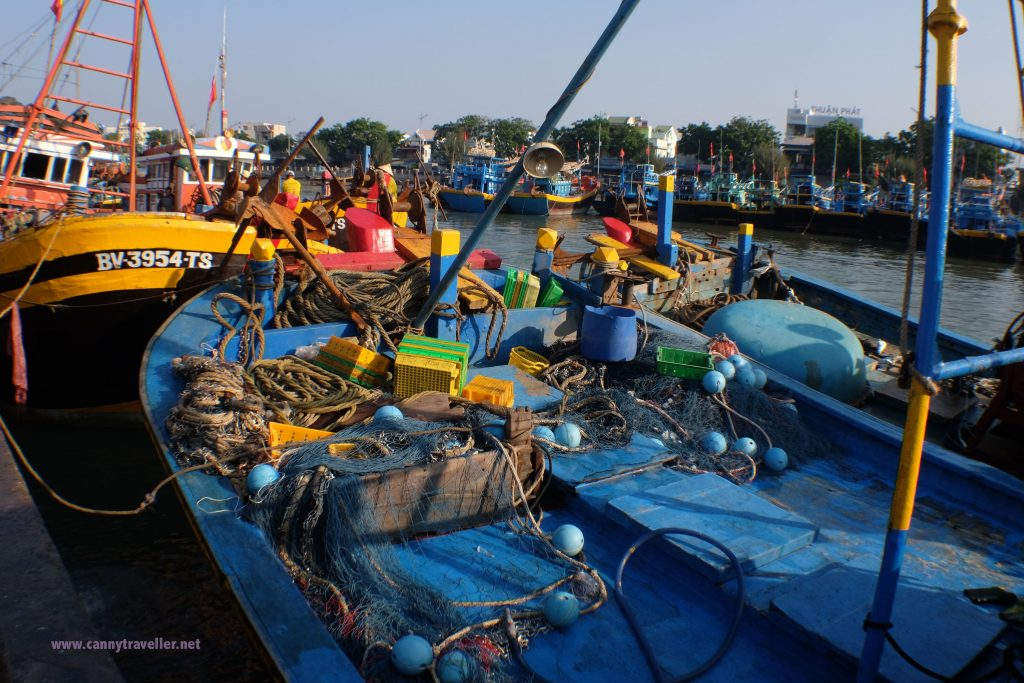 By the fish market at Phan Thiet, Vietnam