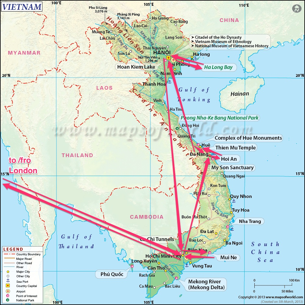 Our Vietnam itinerary