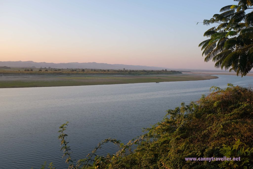 View from River Front Bar, New Bagan